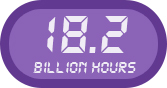 18.2 billion hours