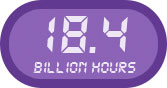 18.4 billion hours