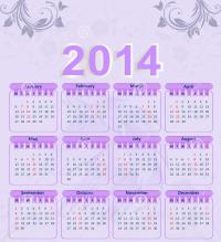 2014 Purple Calendar