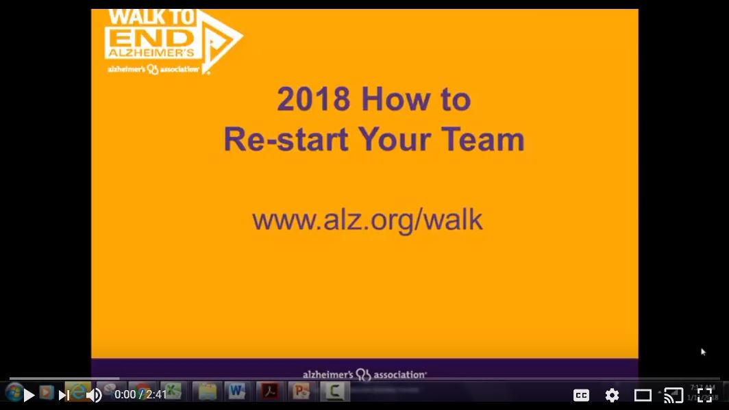 2018 How to Re-start A Team