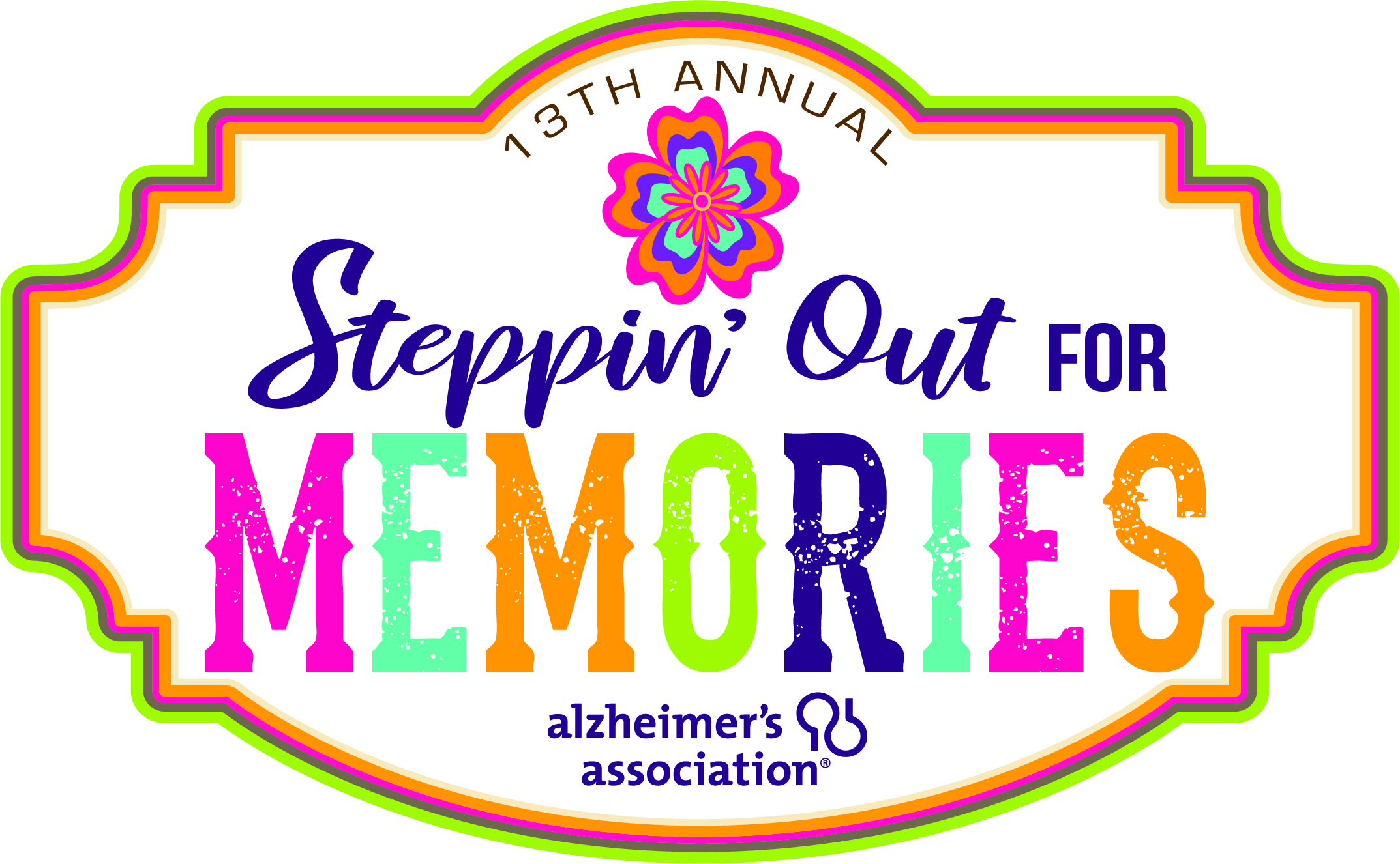Steppin' Out for Memories 2019 Logo