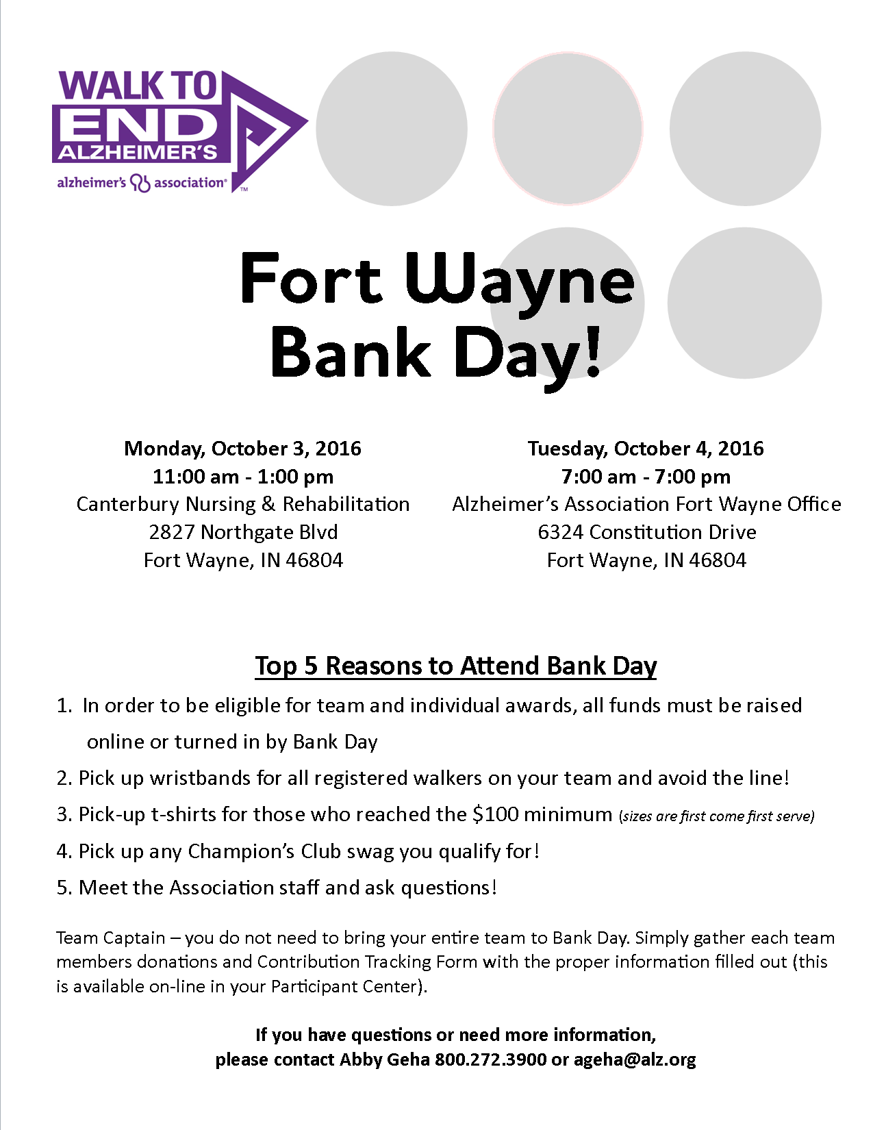 2016 Walk To End Alzheimer S Fort Wayne Walk To End