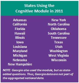 States Using Cognitive Module 2011