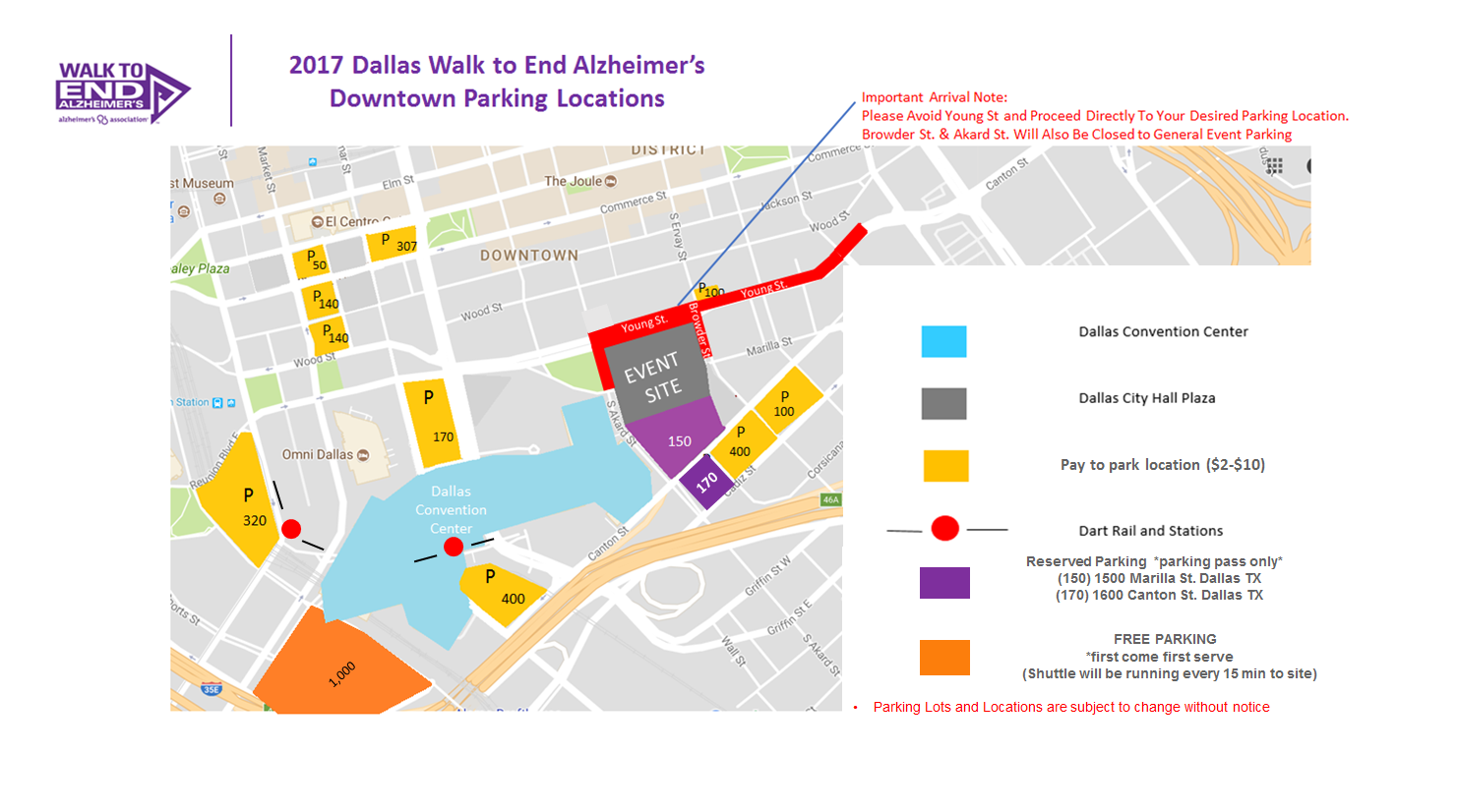 New and Final Dallas parking map 2017 Walk