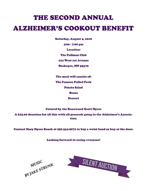 The 2nd Annual Alzheimer's Cookout Benefit