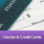 Walk More Info Checks and Credit Cards
