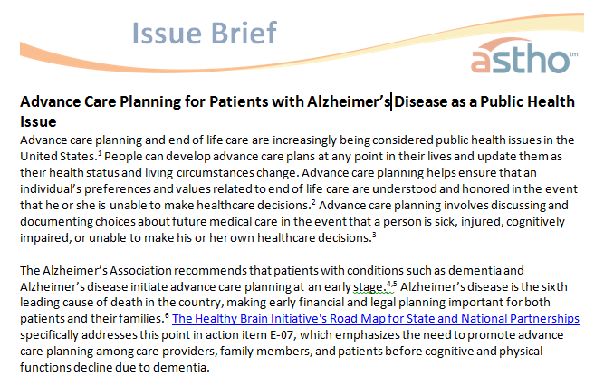 Advanced cared issue brief cover