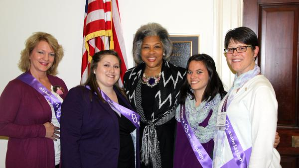 Picture with Representative Joyce Beatty