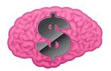 Brain with Dollar sign