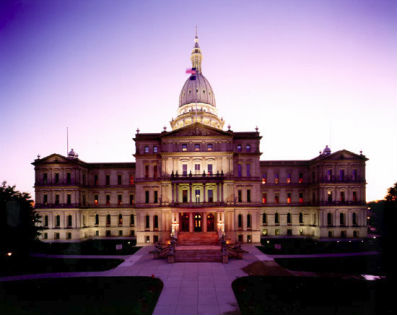 Michigan Capitol purple