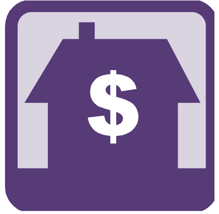 House with dollar sign graphic