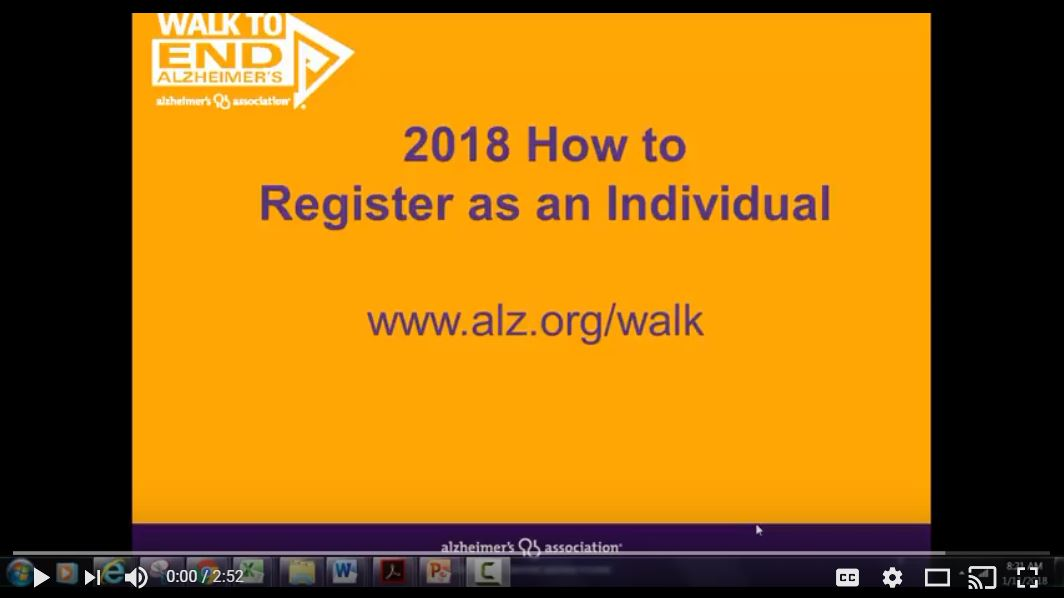 2018 How to Register as an Individual