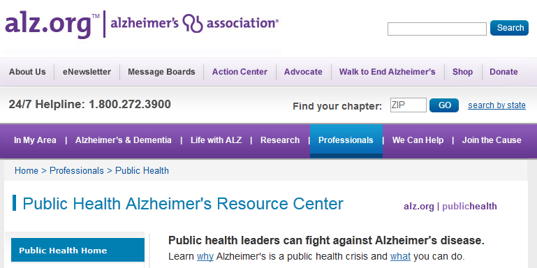 Public Health Website Screenshot