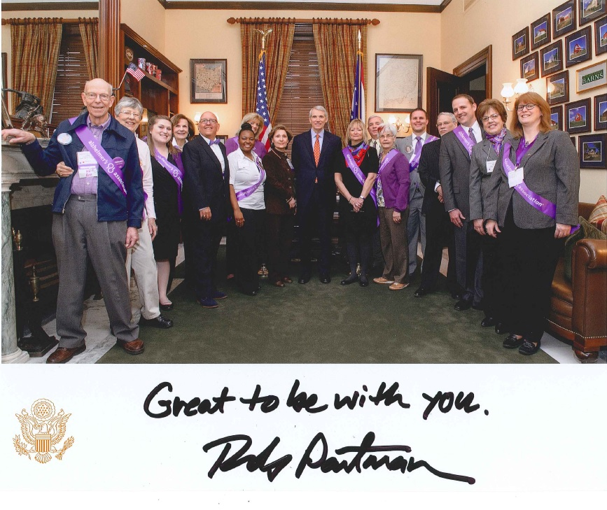 Ohio Alzheimer's Advocates meeting with Senator Rob Portman