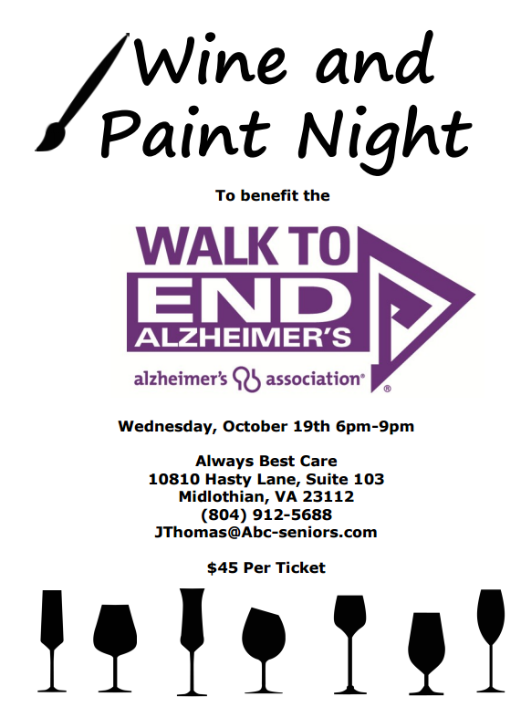 2016 walk to end alzheimer 39 s richmond walk to end for Wine and painting mn