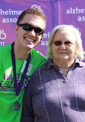 My Grandma Phyllis and me at the 2013 San Jose Walk