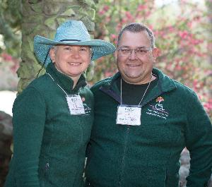 Mary E. MacDonald & Karl R. Ackerman, former family dementia-caregivers, now offer wheelchair-accessible Gardens, a seasonal memory café in the garden, and year-round caregiver support at their home, Rest.Stop.Ranch Respite Retreat Center, in Topsfield, MA.