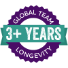 3+ Years Longevity badge
