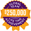 $250,000 Lifetime Achievement badge