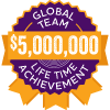 $5,000,000 Lifetime Achievement badge