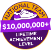 $10,000,000+ Lifetime Achievement Badge