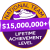 $15,000,000+ Lifetime Achievement Badge