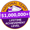 $1,000,000+ Lifetime Achievement Badge