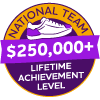$250,000+ Lifetime Achievement Badge