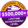 $500,000+ Lifetime Achievement Badge