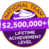 $2,500,000+ Lifetime Achievement Badge