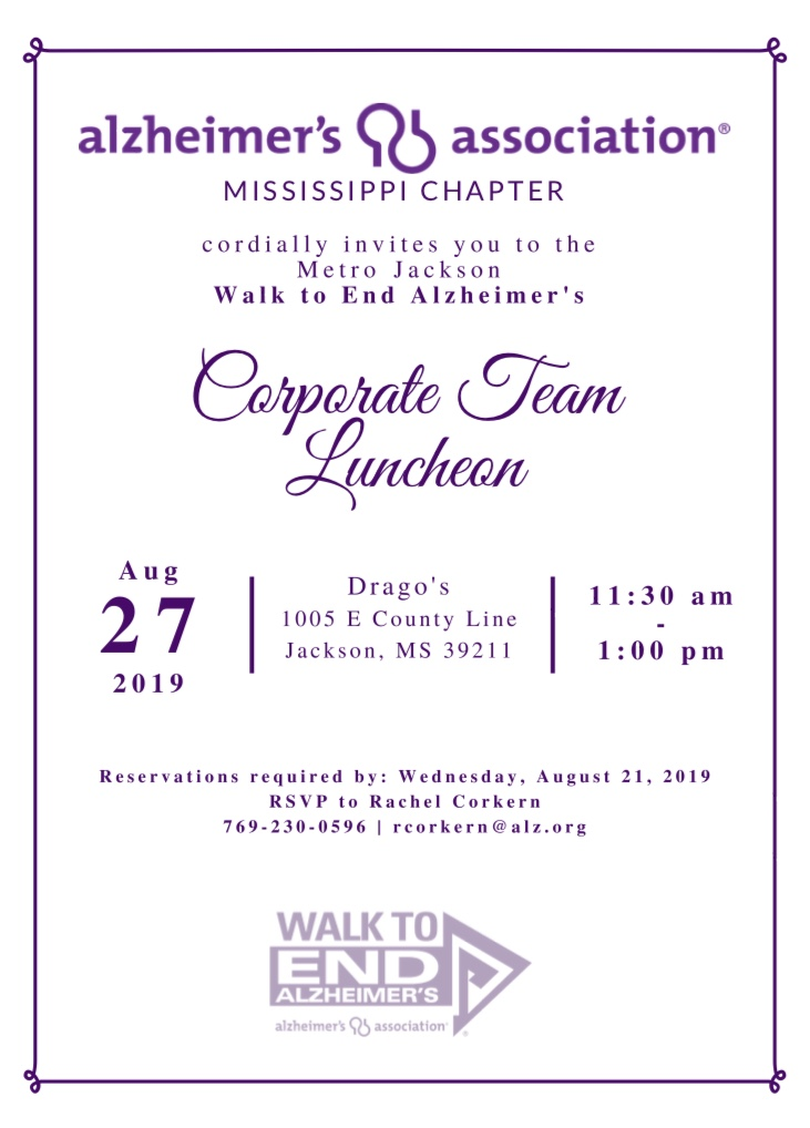 2019 Walk to End Alzheimer's - Jackson, MS | Walk to End
