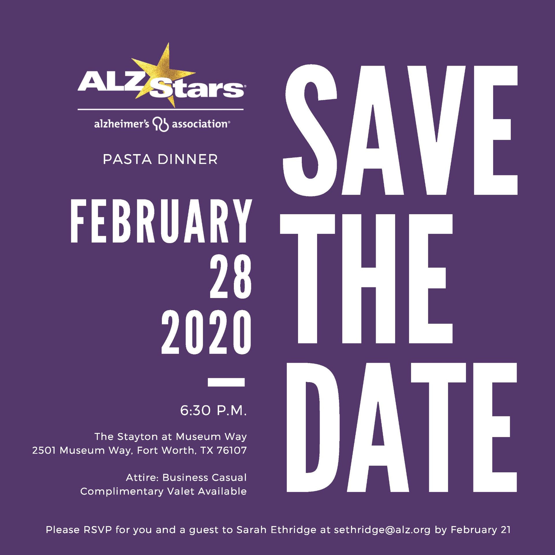 2020 alz stars pd invitation