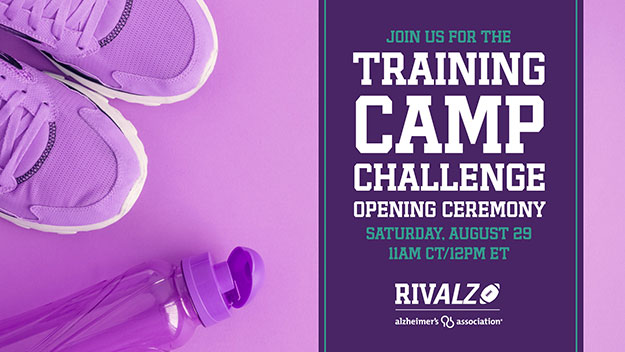 Join us for the Training Camp Challenge Opening Ceremony Saturday, August 29, 2020 11AM CT / 12PM ET