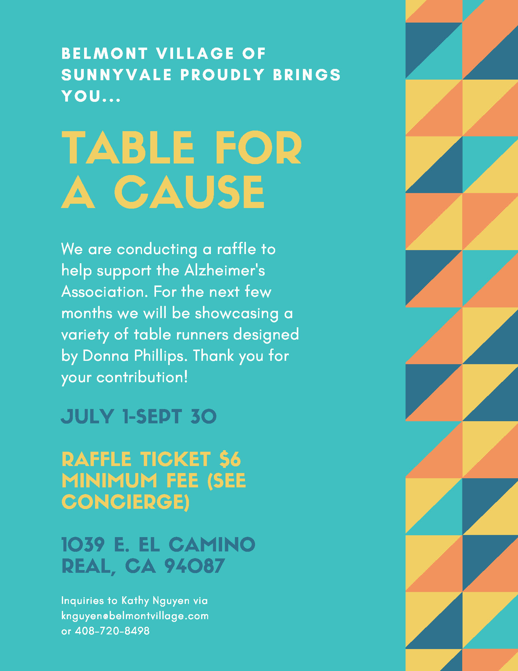 Belmont Village Table for A Cause