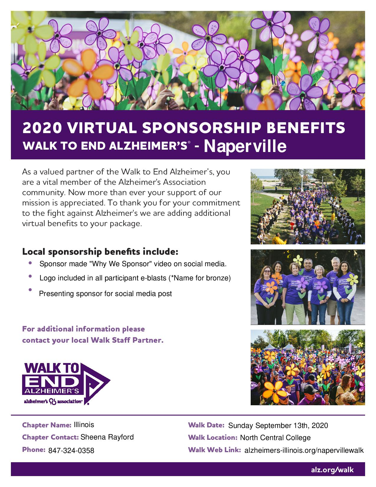 Virtual Sponsorship Benefits
