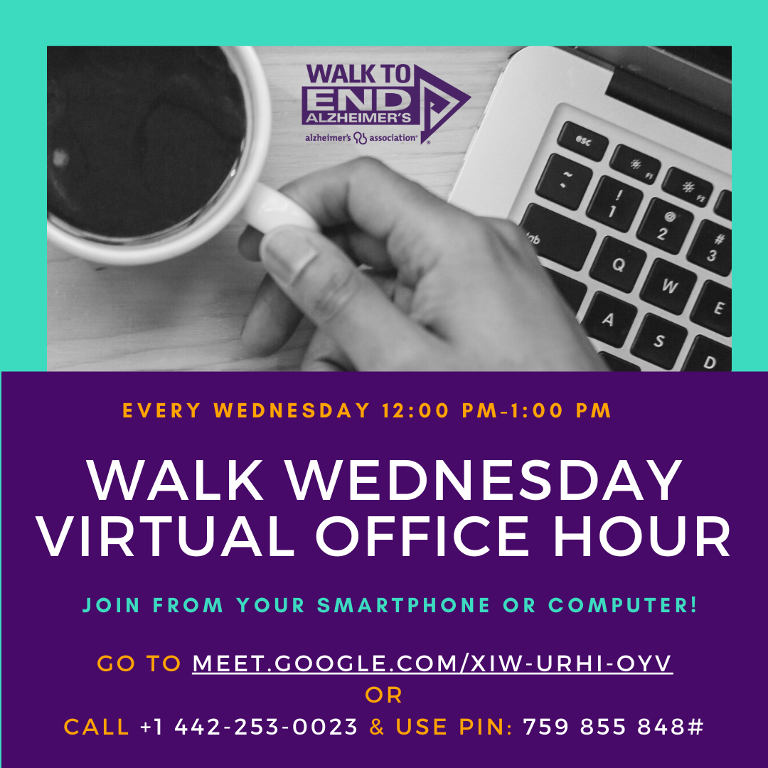 Weekly walk wednesday office hours