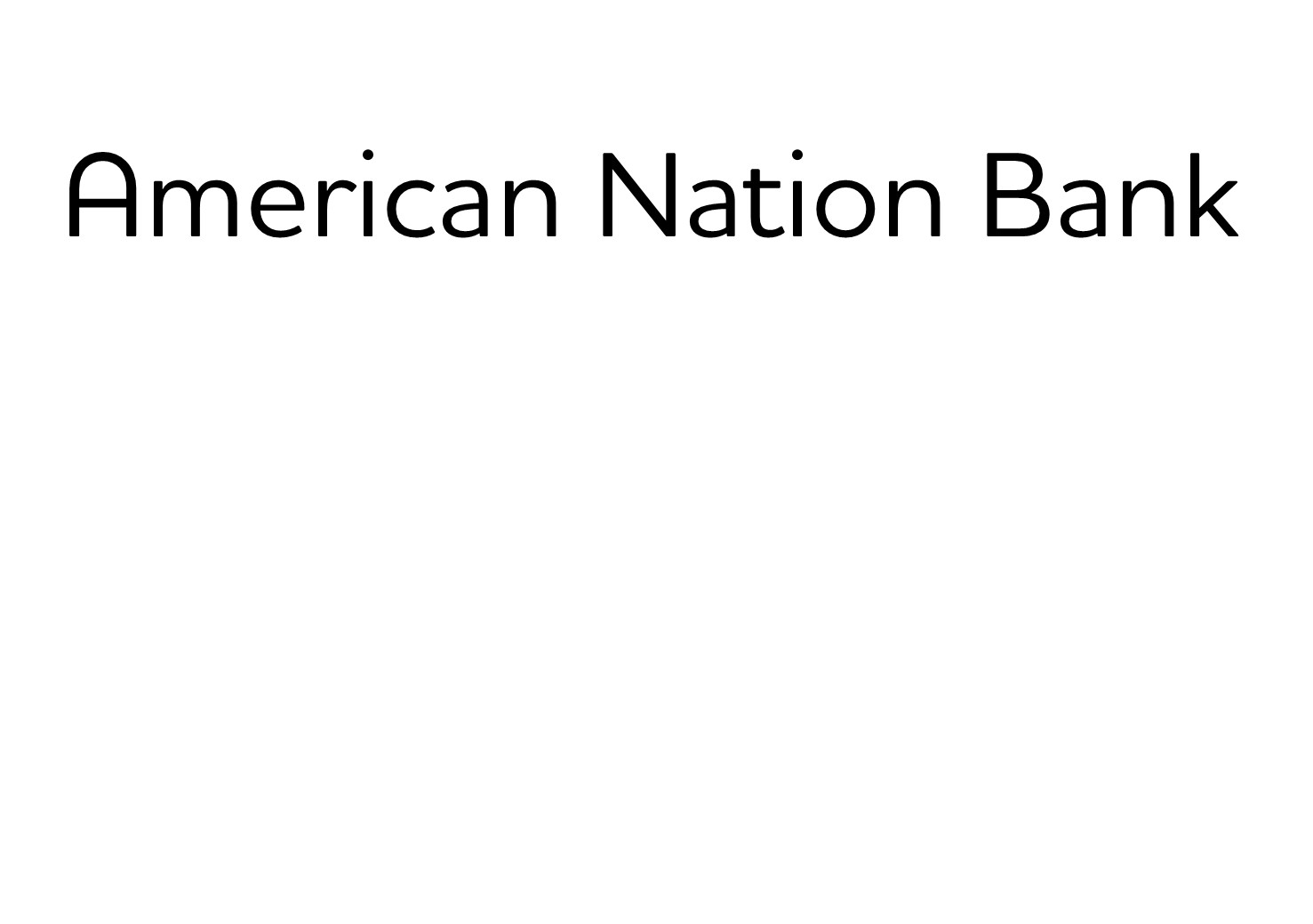 400. American Nation Bank (Silver)