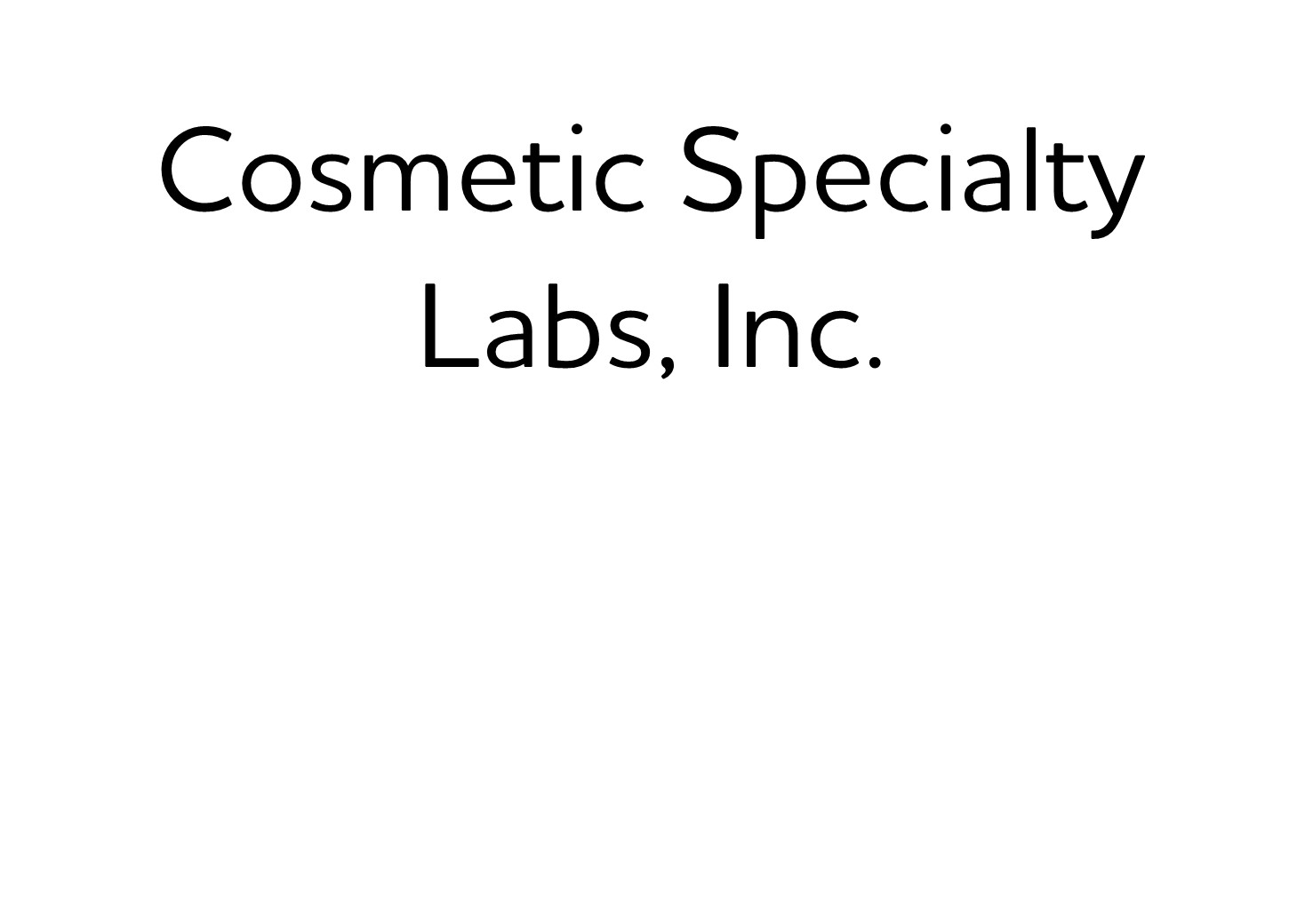410. Cosmetic Specialty Labs, Inc. (Silver)
