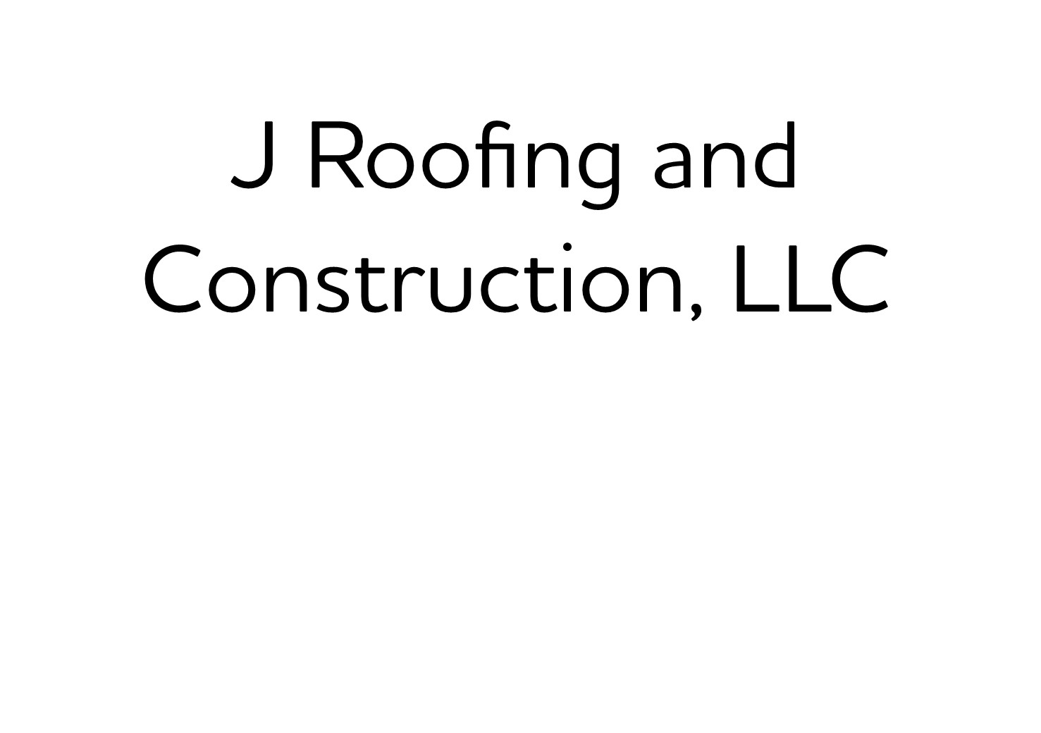 510. J Roofing and Construction, LLC (Bronze)
