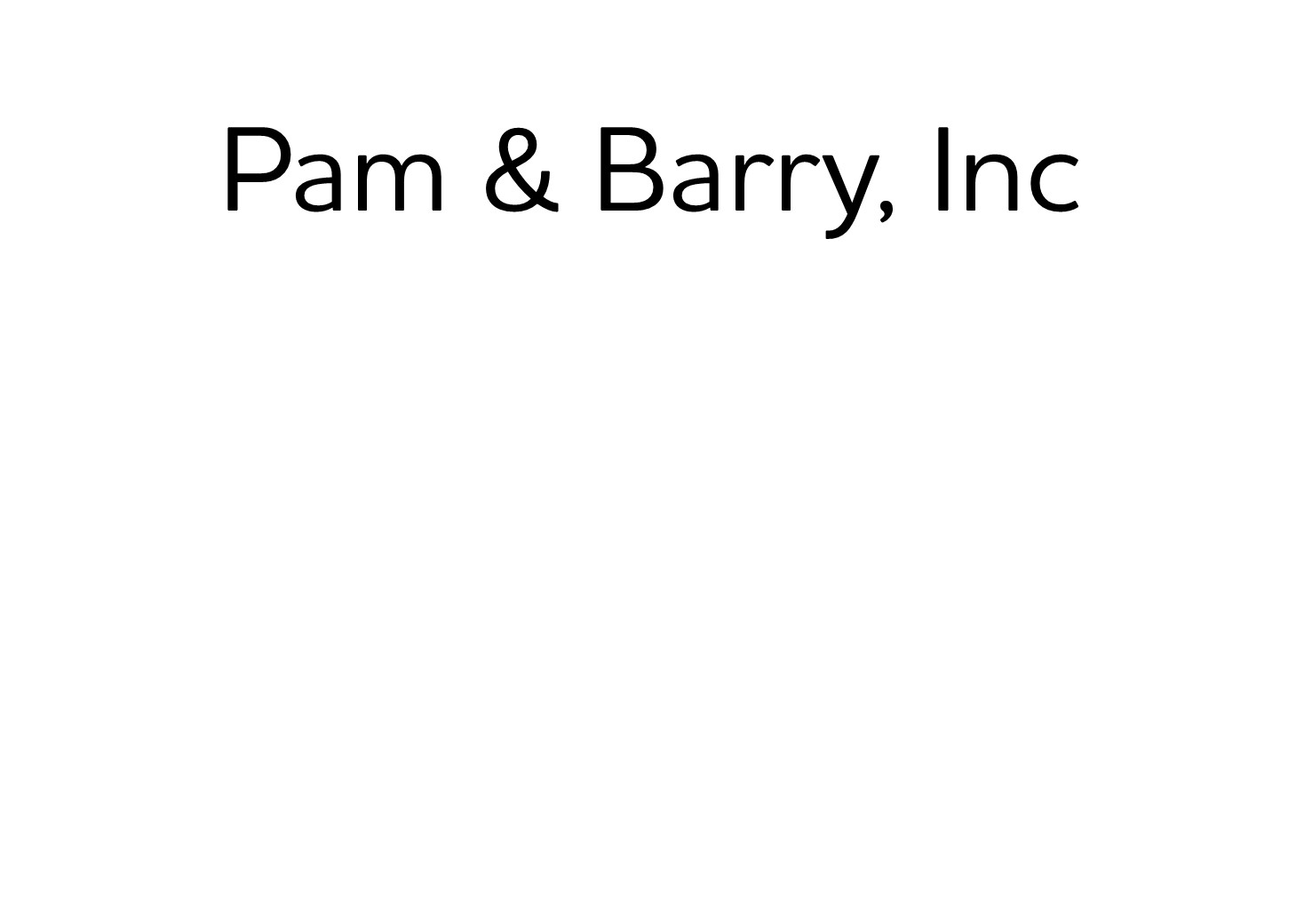 440. Pam & Barry, Inc. ( Silver)