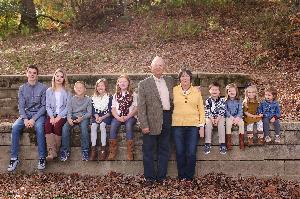 Papa, Mimi, and all the kids