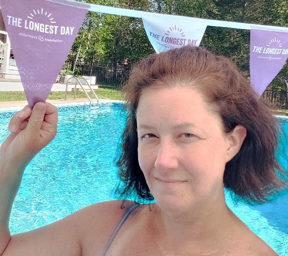 Join me for a VIRTUAL Pool Party to raise awareness on The Longest Day!