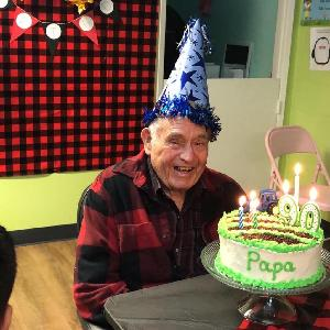 Mr Paul Joe Smith at his 90th and last birthday party.