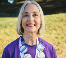 """You have a choice to make a meaning out of losses. I lost my mother to Alzheimer's, but every year I walk and raise funds, I know I'm making a difference."" -Barbara C."