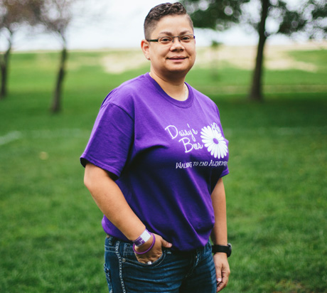 """As a caregiver, I often feel alone. But when you're at Walk to End Alzheimer's, you realize you're not; you're fighting this disease with hundreds of thousands of other people."" -Daisy D."